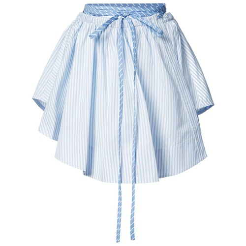 ALEXANDER WANG Pleated Stripe Skirt