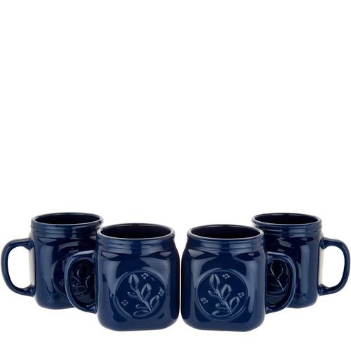 Valerie Bertinelli Set of 4 Ceramic Mason Jar Mugs