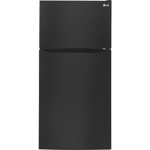 LG - 23.8 Cu. Ft. Top-Freezer Refrigerator - Smooth Black