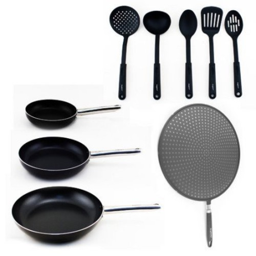 BergHOFF International 9-Piece Non-Stick Frying Pan Set