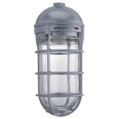 Lithonia Lighting 1-Light Gloss with Gray Utility Vapor Tight Pendant
