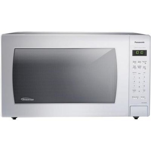 Panasonic 2.2 cu. ft. Countertop Microwave in White, Built-In Capable with Sensor Cooking and Inverter Technology