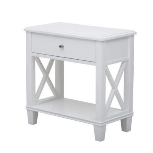 Pulaski Furniture White Storage Side Table