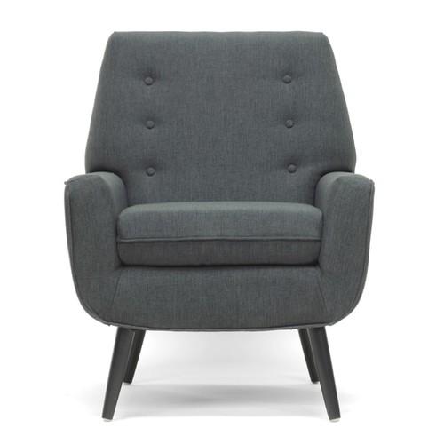 Baxton Studio Levison Gray Linen Modern Accent Chair [option : Chair-Grey]