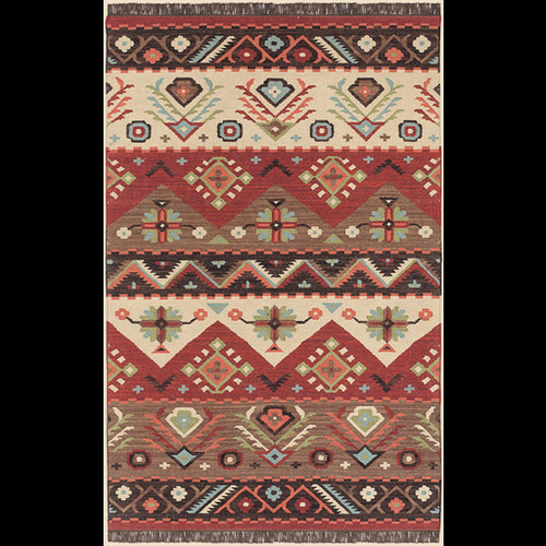 Jewel Tone Burgundy, Beige, & Black Rug design by Surya - 2 x 3