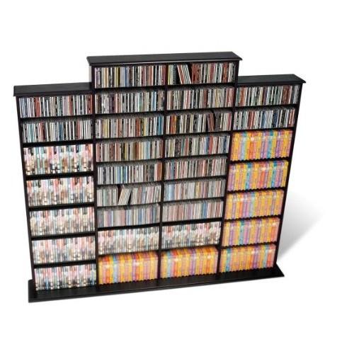 Prepac Quad Width Wall Storage Cabinet, Black [Black, Quad Width Wall ]