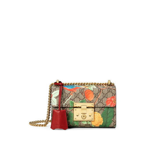 GUCCI Padlock  Tian Small Shoulder Bag, Multi