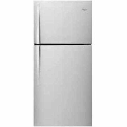Whirlpool 19 cu. ft. 30-inch Wide Top Freezer Refrigerator - Fingerprint Resistant Metallic Steel