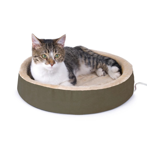 K&H Pet Thermo-Kitty Cuddle Up Heated Bed