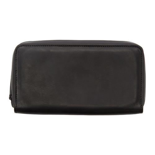 ANN DEMEULEMEESTER Black Alana Long Zip Wallet
