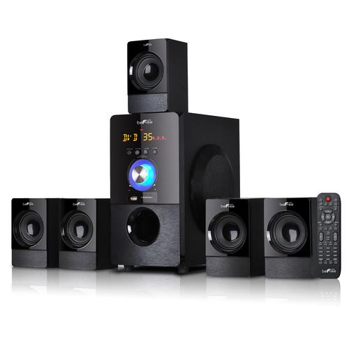 Befree Sound 97095498M 5.1 Channel Surround Sound Bluetooth Speaker System in Black