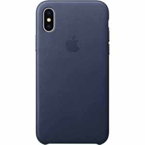 Apple Leather Case for iPhone X- Midnight Blue