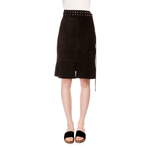 PROENZA SCHOULER Studded Suede Skirt, Black