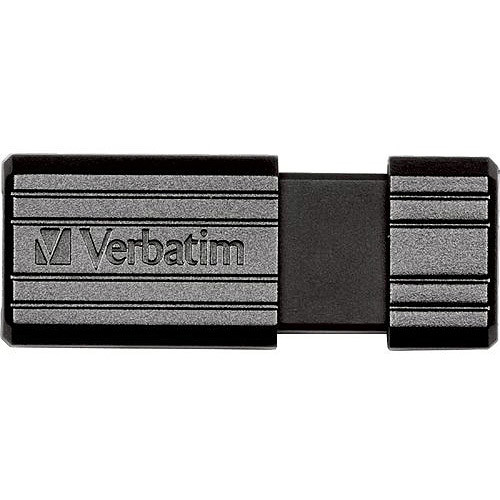 Verbatim 16 GB Pinstripe USB Flash Drive, Black 49063