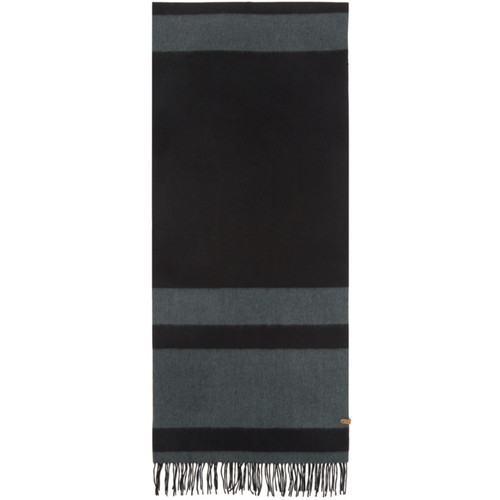 MACKAGE Black & Grey Striped Lazio Scarf