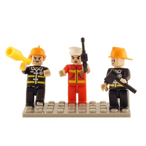 Brictek Fire Brigade Mini Figurines