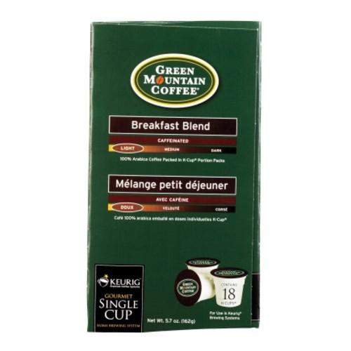 Keurig Green Mountain Coffee Breakfast Blend Coffee K-Cups 18 pk(120232)