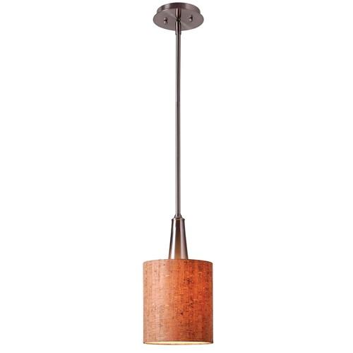 Kenroy Home 93011BS - Bulletin 1 Light Mini Pendant Brushed Steel Finish