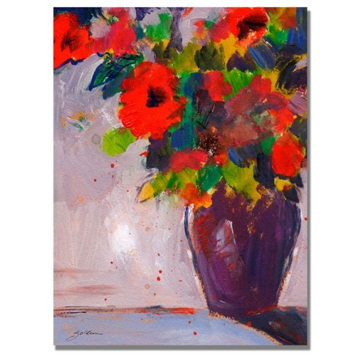 Trademark Fine Art Shelia Golden 'Fiesta II' Canvas Art 24x32 Inches