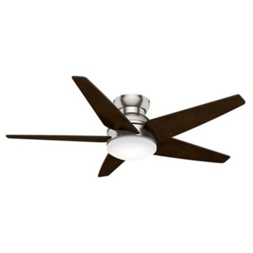 Casablanca Fan 52'' Isotope 5 Blade Fan; Brushed Nickel with Espresso Blades