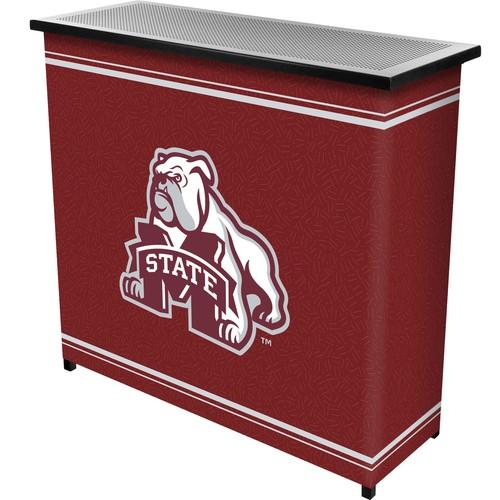 Trademark Global Mississippi State University 2 Shelf Portable Bar With Case
