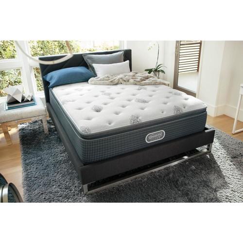 Beautyrest Silver River View Harbor Full Plush Pillow Top Low Profile Mattress Set