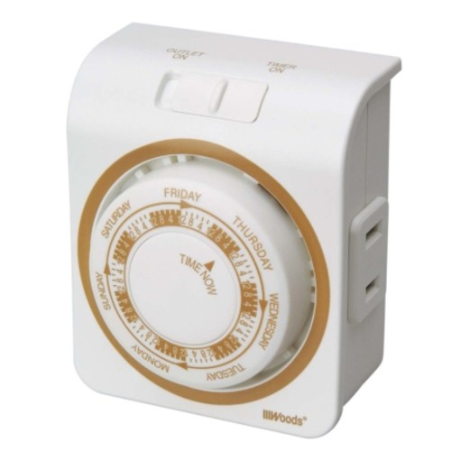 Woods Indoor 7 Day Mechanical Vacation Timer (50003AC)