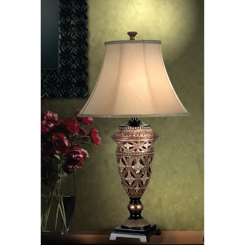 Kenroy Home Sophie 35 in. Golden Bronze Table Lamp