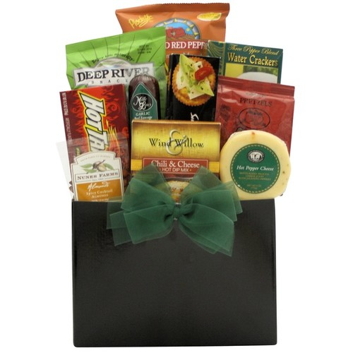 Happy Father's Day Hot & Spicy 14-inch x 12-inch x 8-inch Gourmet Gift Basket