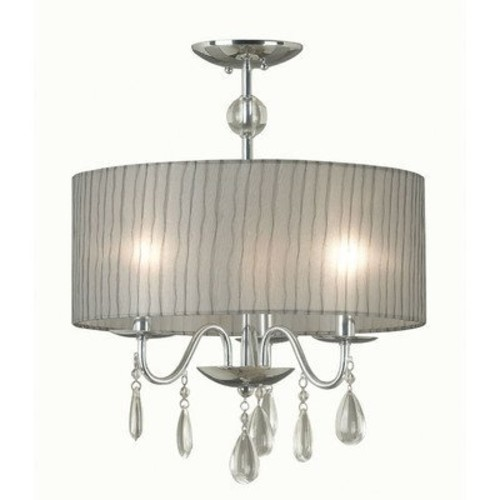 Kenroy Home 91733CH Arpeggio 3 Light Pendant, Chrome Finish