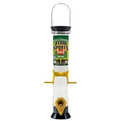 Droll Yankees Team Sports Tube Bird Feeder; Black and Yellow