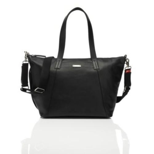 Storksak Noa Leather Diaper Bag in Black