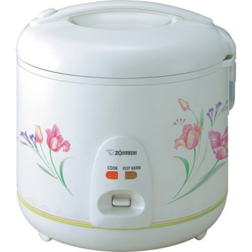 Zojirushi NSRNC18FZ Automatic Electric Rice Cooker and Warmer 10-Cup / 1.8-Liter, Spring Bouquet [White, 1.8 Liters]
