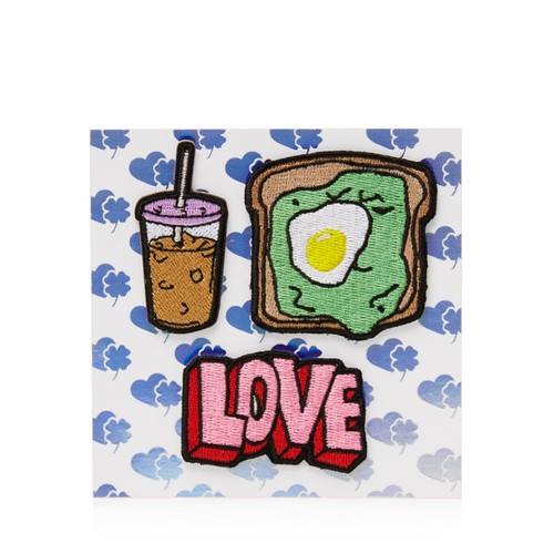 Coffee, Toast, Love Stick-On Patches