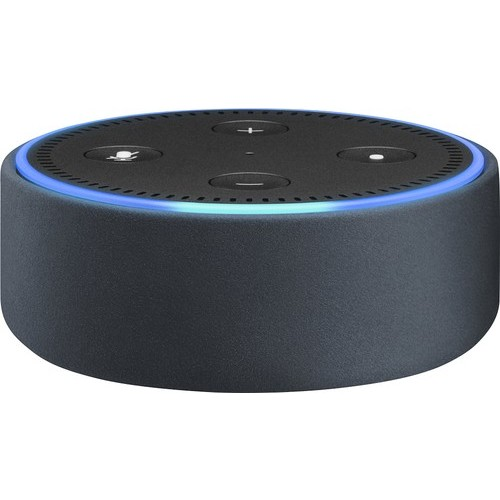 Amazon - Case for Amazon Echo Dot (2nd Generation) - Midnight