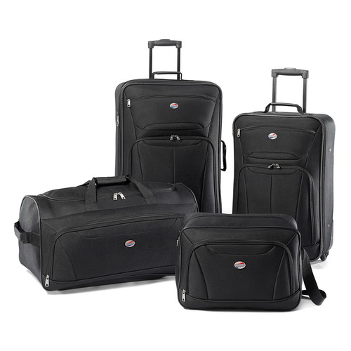American Tourister Luggage Fieldbrook II 4 Piece Set [Black]