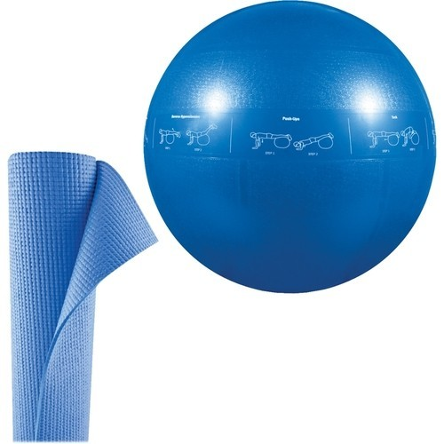 GoFit - Pro Stability Ball and Yoga Mat Kit - Blue