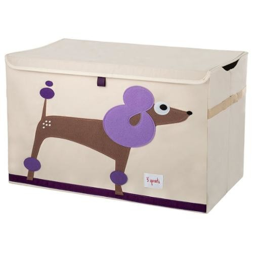 3 Sprouts Toy Chest - Purple Poodle