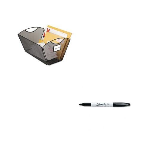 Safco Onyx Mesh Desktop Tub File SAF2163BL