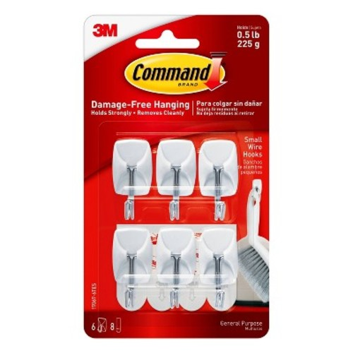 Command Small Wire Hooks Value Pack, 6/pk