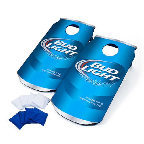 Bud Light Can Cornhole Beanbag Toss Game