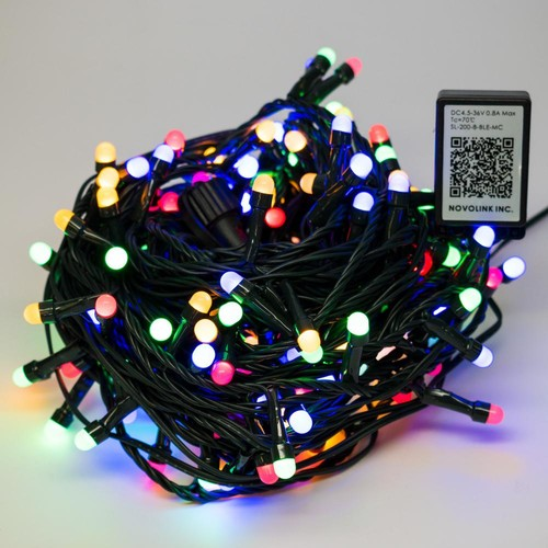 Novolink 200 Light 8 mm Mini Globe Multi Color LED Lights with Wireless Smart Control