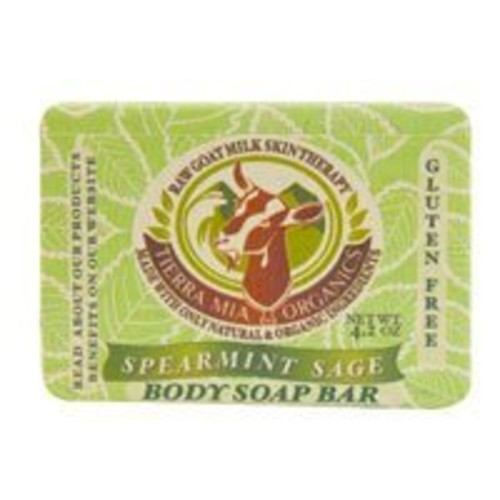 Tierra Mia Organics Spearmint Sage Gentle Body Bar, 4.2 Ounce
