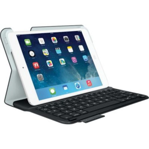 Logitech Ultrathin Keyboard/Cover Case (Folio) for iPad mini, iPad mini with Retina Display, Carbon Black