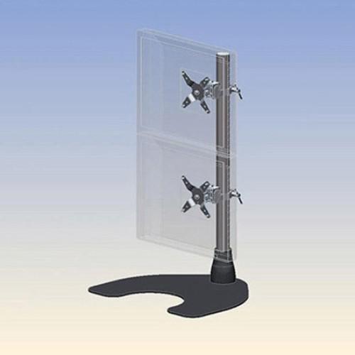 Ergotech - 100-D28-B11-HD Dual Vertical Heavy Duty LCD Desk Stand - Black