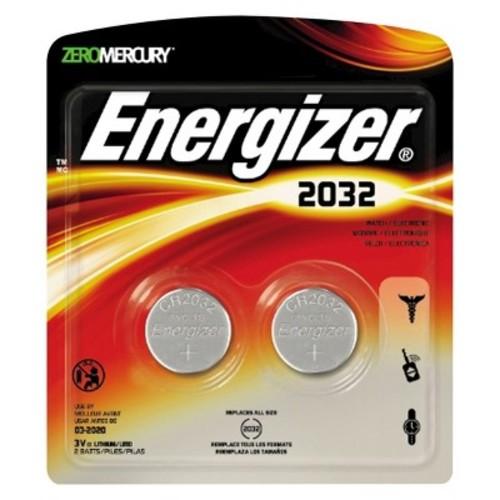 Energizer 2032 Coin Lithium Batteries 2 Count (2032BP-2)