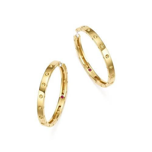 18K Yellow Gold Symphony Pois Moi Hoop Earrings