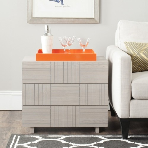 Safavieh Coffee, Console, Sofa & End Tables Safavieh Mitch Grey Storage Cabinet