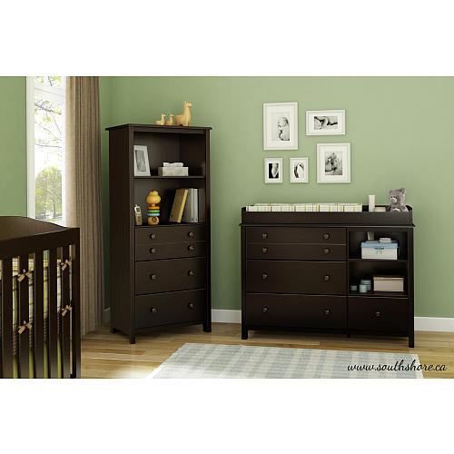South Shore Little Smileys Shelving Unit - Espresso