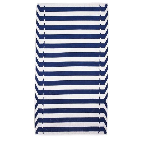 Beach Towel Nautical Stripes